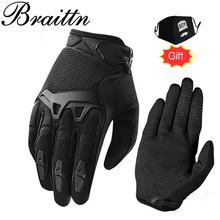 BRAITTN Free shipping Men and women in 2016 new product ge advanced materials motorcycle gloves Outdoor cycling sports gloves