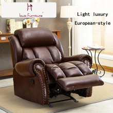 First Class Cabin Sofa Leather Combination Family Cinema Multifunctional Living Room Electric Chivas Sofa(China)