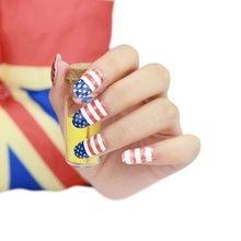 Fashion DIY Nail Art Stickers Impressionism USA Flag Fast Instant Decor Nail Foil Wrap Decorations