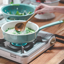 Candy Green Enamel Pan Lemorange Handmade Baked Pan Sauce Pot General Use For Gas And Induction Cooker TQQ0246