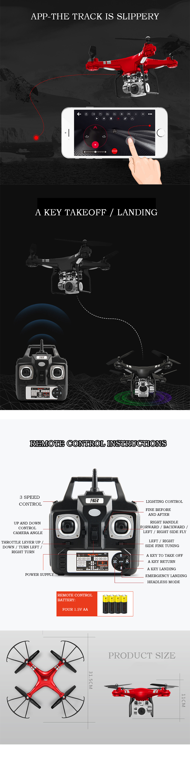5MP HD Camera Drone Wifi FPV Live Quadcopter Smart Altitude Hold Hover RC Helicopter 2.4G 6 Axis Gyro Drone drones with camera 4