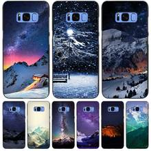 Snow Mountain Chalet Aurora Milky Way Stars Black Case Cover Shell Coque for Samsung Galaxy S3 S4 S5 Mini S6 S7 S8 Edge Plus S8+
