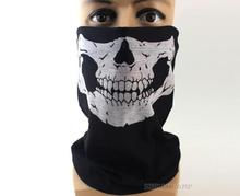 500pcs/lot wholesale Skull Halloween Mask Ghost Biker Skeleton Motorbike Ski Bmx Party Bandana Snood Magic Scraf Mask(China)