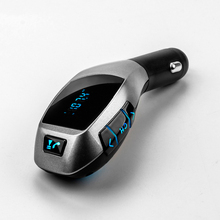 New Bluetooth Car Kit Car Wireless Bluetooth Handsfree FM Transmitter Car MP3 Music Player Car Charger Support U Flash/TF Input(China)