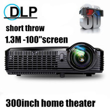 Factory sale! 5500 lumen 240W Osram UHP lamp DLP 3D Short throw Projector projetor with HDMI for school classrooms