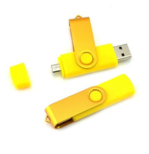 full color Dual Rotation OTG USB Flash Drives 32gb 16gb 8gb u disk  OTG external storage memory stick for mobile phone