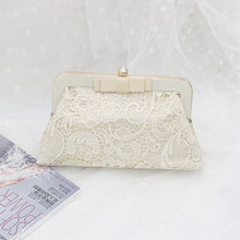 2016 women bag hot hand evening bags lace new the chain the bowknot wedding dinner bags Free Shipping
