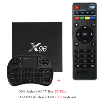 X96 Android 6.0 TV Box 4K x 2K Full HD Amlogic S905X 1G/2G 8G/16G 2.4GHz WiFi HDMI 2.0 TF Card Slot Smart Media Player