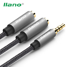 High Quality 3.5 mm Audio Cable Male to 2 Female Audio Splitter Connector For iPhone Tablet Headphone Speaker Computer Jack Line