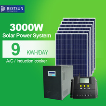 1000W 3000W Off-Grid Solar Power System Stand-alone PV Solar Generator for home with low Configuration Used solar energy product