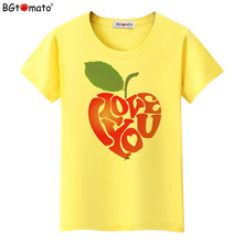 BGtomato New design beautiful fruit T-shirts Original brand good quality clothes casual shirts wholesale women tops tees 234