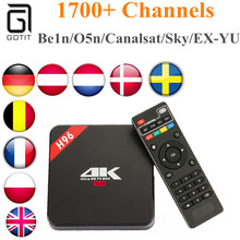 H96 Box RK3229 Quad core Cortex A7+1 Year Royal IPTV For French Netherland Europe Channels WIFI 1G/8G 4K Android 6.0 TV Box