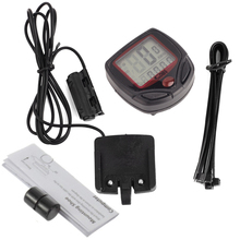 Sunding Waterproof Bike Computer Bicycle Meter Odometer Speedometer Cycling Computer Velocimetro Wired Stopwatch LCD Display