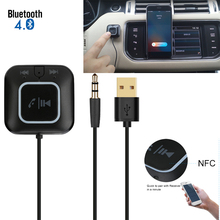 Wireless BT Speaker Receiver Bluetooth Car Kit BT4.0+EDR NFC Aux 3.5mm Music Adapter Multi-point Connection Hands-free with Mic(China)