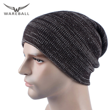 WAREBALL Fashion Men's Skullies Winter Cap Hats Male Brand Beanies Cap Casual Sets Headgear Hats For Men Wholesale