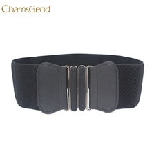 Chamsgend Newly Design Fashion Lady Bowknot Stretch Elastic Wide Belt Elastic Waist Strap 160704 Drop Shipping