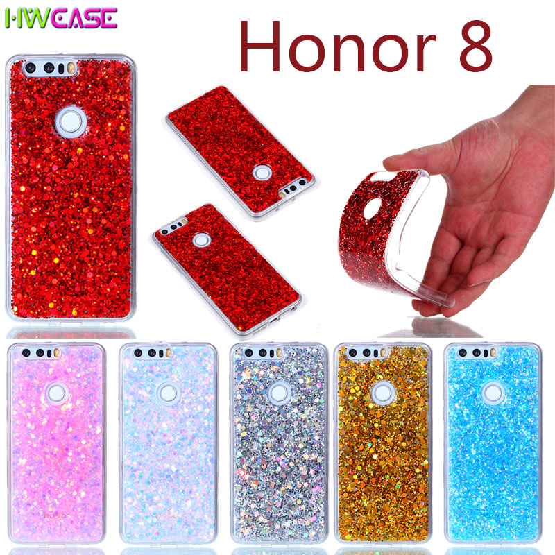 Gradient Bling Glitter Diamond Case For Huawei Honor 7 8 6X 5C Enjoy 6 Coque Silicone Rubber Clear Transparent Phone Cases 5C 6X(China (Mainland))