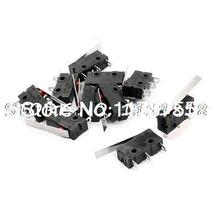 10 x KW12 Short Hinge Lever Actuator Non Locking Micro Switch 5A 125/250VAC(China)