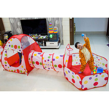 Newly 3 In 1 Kids Tent Pipeline Crawling Huge Game Play House Baby Play Yard Ball Pool Home Baby Playpen Fencing for Children