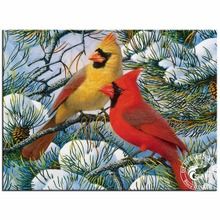 5D Diy Diamond Painting Crystal Red Cardinal Diamond Embroidery Animals Birds Cross Stitch Picture Rhinestones Home Decoration