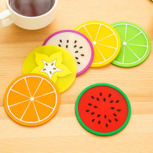 Non-slip Fruit Placemat Cup Mat Pads Coffee Mug Drink Coasters Dining Table Placemats Desk Accessories(China)