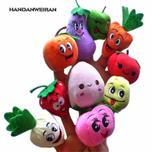201710 pcs/sell Parent animal hand puppets and kid animal finger puppet plush toys(China)