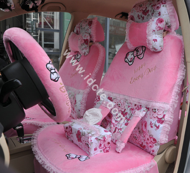 Flower-Print-Lace-Car-Seat-Covers-for-Women-Universal-Short-Plush-Winter-Auto-Seat-Covers-Sets-Interior-Accessories-1