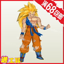 Dragon Ball Z Goku Super Saiyan 3D puzzle handmade paper model DIY toy(China)