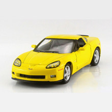 Simulation Corvette Z06 Pull Back Toy Car Models, KINSMART Alloy Doors Openable Cars Toys For Children, Kids Toy / Brinquedos