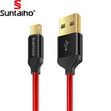 Micro USB Cable Suntaiho 5V2.5A Metal Nylon Braided Wire USB Charger Sync Data Cable for Samsung Galaxy Xiaomi HTC Sony Phones(China)