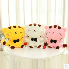 1pcs 25cm mini Selling Toy Big Face Cat Plush Toy Stuffed Animal Cat Baby Toy Soft Doll Home Decoration