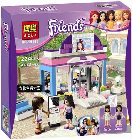 Friends Butterfly Beauty Shop Building Block Sets Original Bela 10156 girls Toys Bricks  3187 free shipping<br><br>Aliexpress
