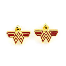 Drop Shipping Cheap Wonder Woman Earrings Justice League Style Stud Earrings Geeky Accessory Comic Superhero Cosplay Jewelry
