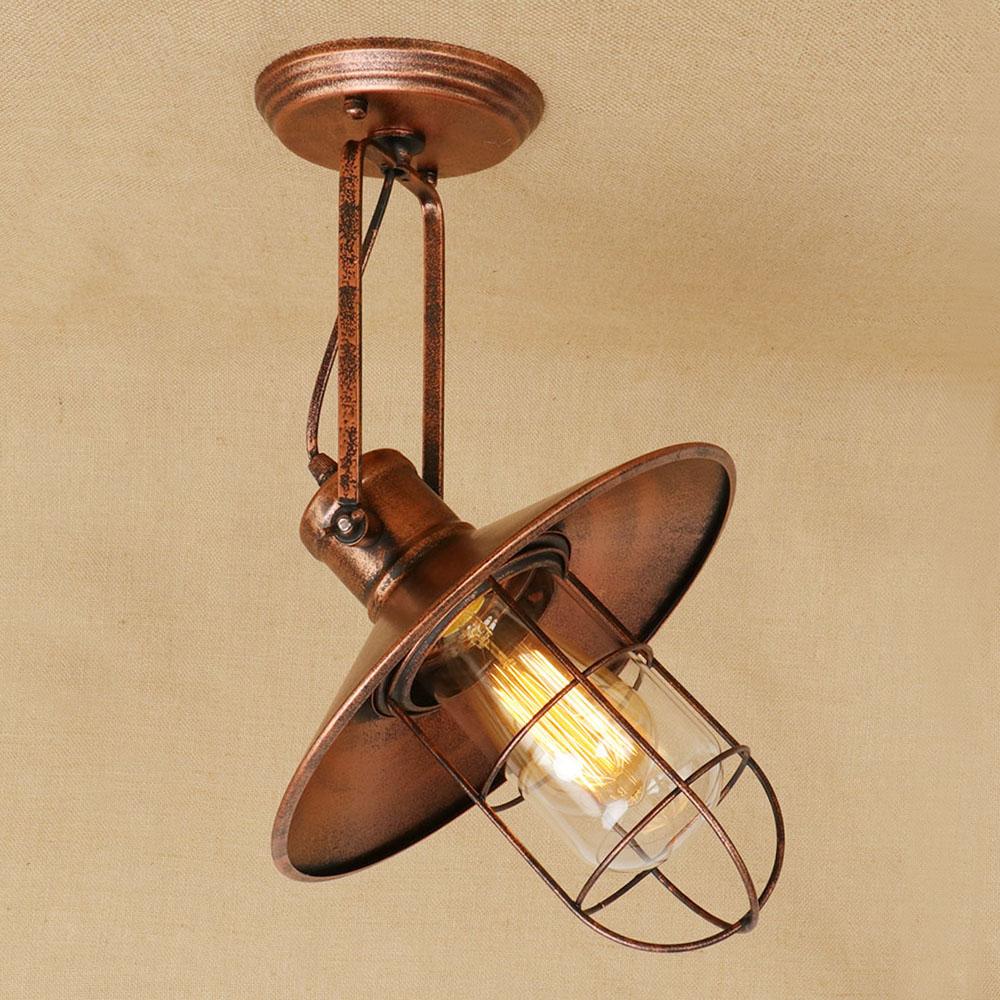 Loft Vintage Schwarz Rost Farbe Einstellbar Decke Lampe Led E27 Deckenleuchten Dekorative Leuchte Fr Schlafzimmer