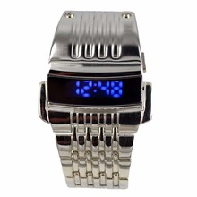 LED Digital Watch Electronic Watch G1232 Stainless Steel Wristwatches Trendy Sport Waterproof Watch Fashionable Accessory