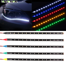 1Pcs 12V 30cm High Power LED Daytime Running lights DRL 100% Waterproof 3528 SMD Car Auto Decorative Flexible LED Strip Fog lamp
