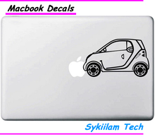 Mini Car for apple Logo Creative Sticker for Macbook Skin Air 11 13 Pro 13 15 17 Retina Laptop Computer Vinyl Decoration Decal
