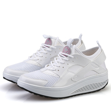 Women Wedge Sneakers Breathable Mesh Swing Shoes Shape Ups for Woman Outdoor Walking Toning Sports Shoes
