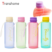 Transhome Fashion Foldable Water Bottle 500ml Sports Collapsible Silicone Drink Water Bottle Creative Bottle For Travel Tour Tea