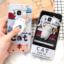 For Samsung Galaxy S8 Plus Silicone Case Squishy 3D Cartoon Soft Doll Phone Cases Covers Coque for S7 Edge Capa Funda