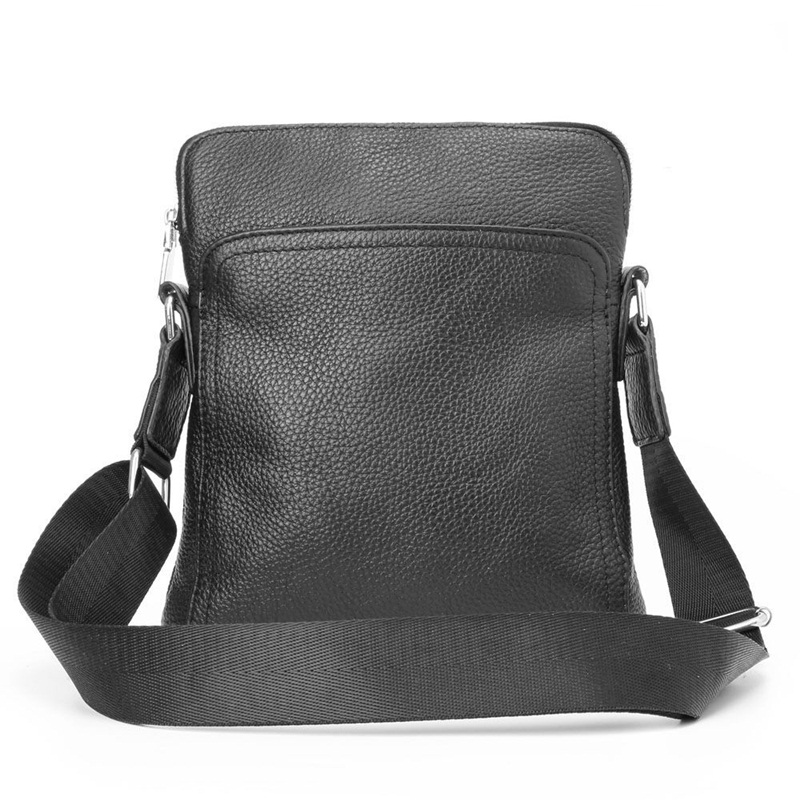 Genuine Leather men bag casual business men shoulder crossbody bag high quality cowhide zipper fashion male messenger bags <br>