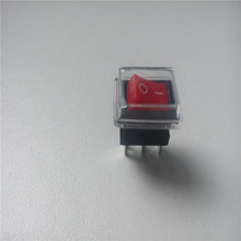 50pcs rocker switch KCD11 250V 3A 3pin 2 files 10*15mm ON/OFF for Power switch with waterproof cover dust cover soft