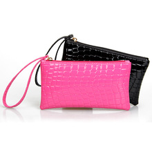 Hot special offer factory wholesale handbags vendor supply hand bag fashion lady crocodile bag mobile phone Wallet