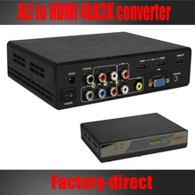 Multi-functional all RCA(CVBS), YPbPr, VGA, HDMI to HDMI converter box up to 4kX2k with USB media function