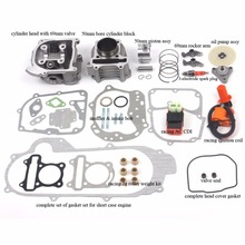100cc Big Bore set for 69mm Valve GY6 49CC 50CC 139QMB Moped Scooter Engine 50mm Bore Upgrade Set with Racing CDI Ignition Coil