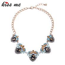 New Design Retro Alloy Geometric Large Statement Necklace 2016 Fashion Jewelry for Women Choker Necklace(China)