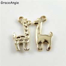 GraceAngie 18Pcs Alloy Giraffe Jewelry Accessories Animal Shape Crafts Bracelet Charms 22mm Vintage Women Man Gifts Baby Gifts