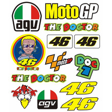 Valentino Rossi Motorcycle Sticker 46 VR46 The Doctor Helmet Decal Racing Motor cross Moto GP For Yamaha Kawaki Honda BMW KTM VW