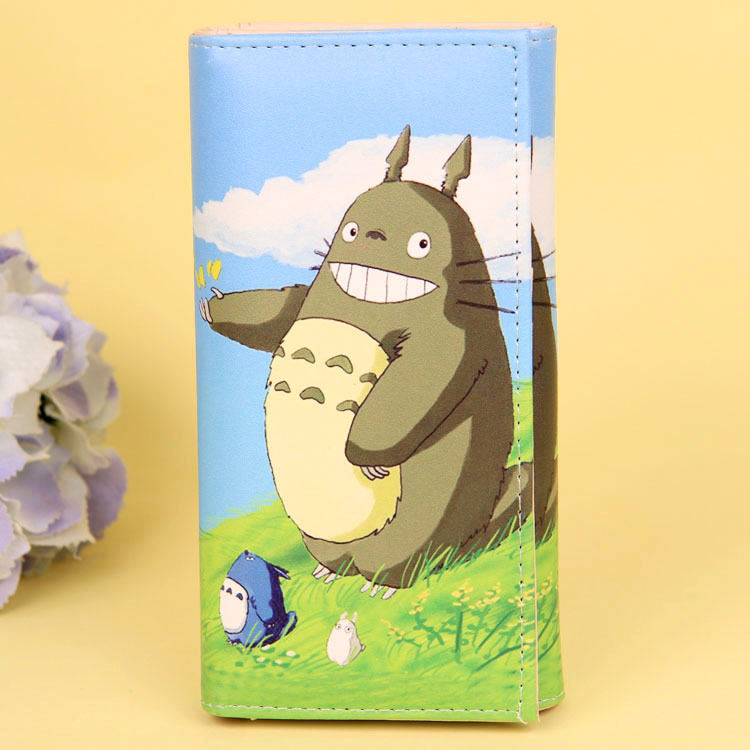 Cartoon My Neighbor Totoro Women Wallets PU Leather Students Wallet Cards Holder Women's Clutch Hasp Coin Purse Money Bags 13