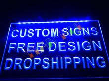 design your own Custom   LED Neon Light Sign Bar open Dropshipping decor shop crafts led